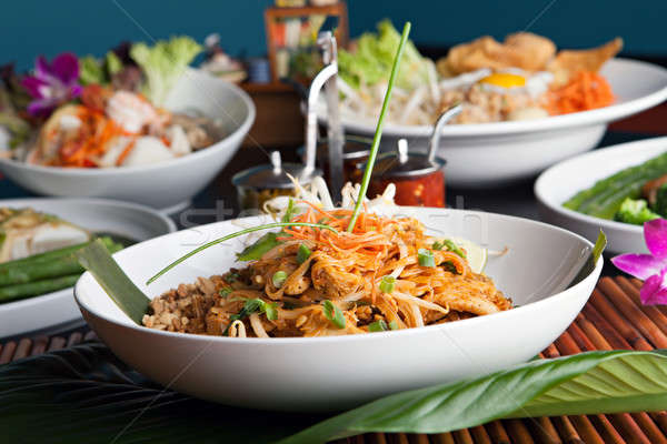 Chicken Pad Thai Stock photo © arenacreative