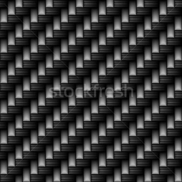 炭素繊維 素材 黒 パターン タイル ストックフォト © ArenaCreative