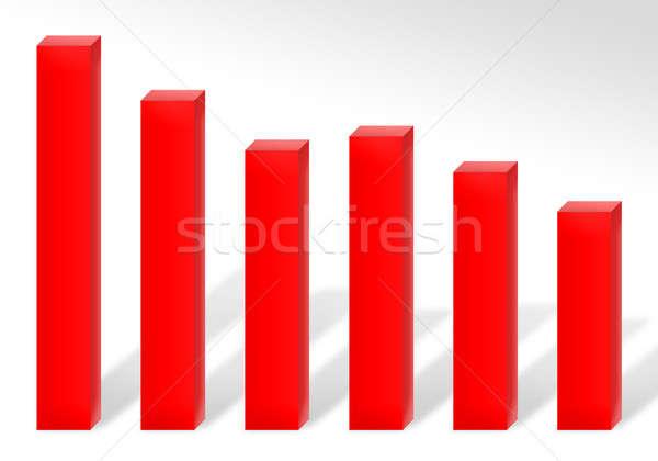 Perdita grafico 3D grafico a barre illustrazione Foto d'archivio © ArenaCreative