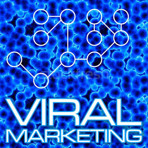 Virális marketing diagram illusztráció 3D folyamatábra Stock fotó © ArenaCreative