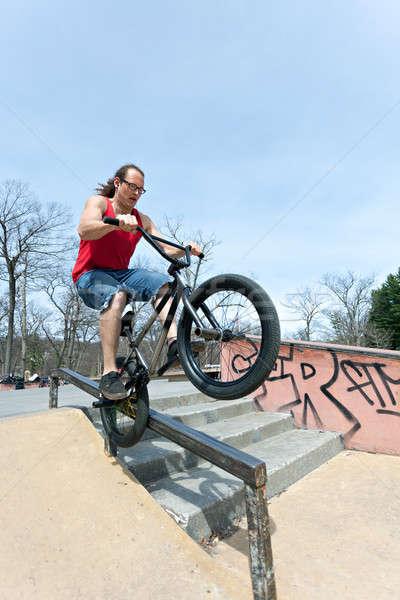BMX Rider Grinding Stock photo © arenacreative
