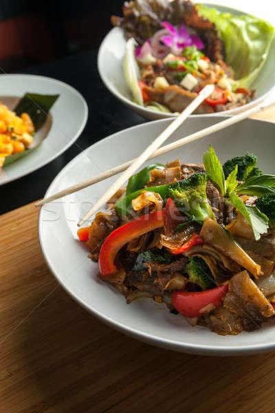 Borracho tailandés plato carne de vacuno mixto Foto stock © arenacreative
