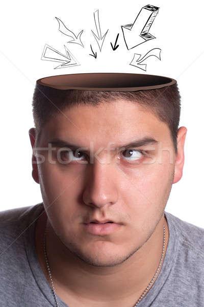 頭 空洞 男 若い男 ストックフォト © ArenaCreative