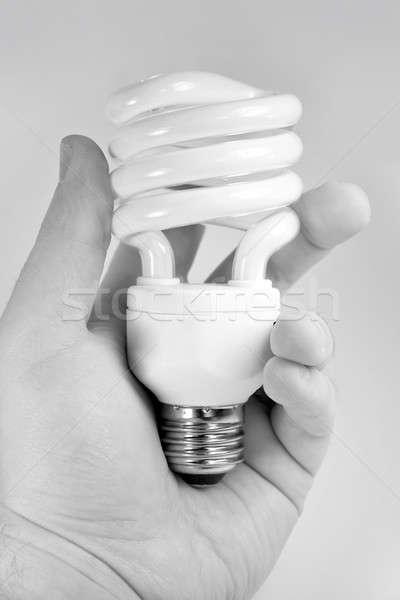 Zwarty fluorescencyjny żarówka strony tle Zdjęcia stock © ArenaCreative