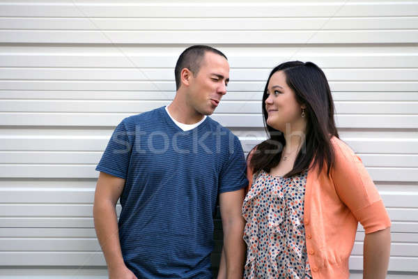 Funny Guy Cracking Jokes Stock photo © ArenaCreative