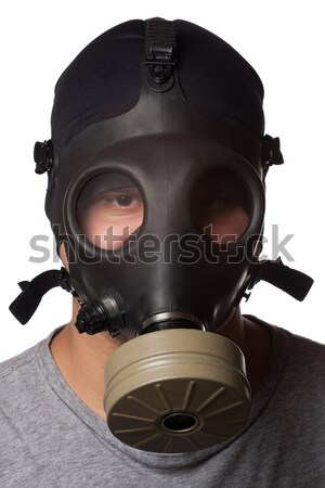 Masked Criminal Points a Gun Stock photo © ArenaCreative