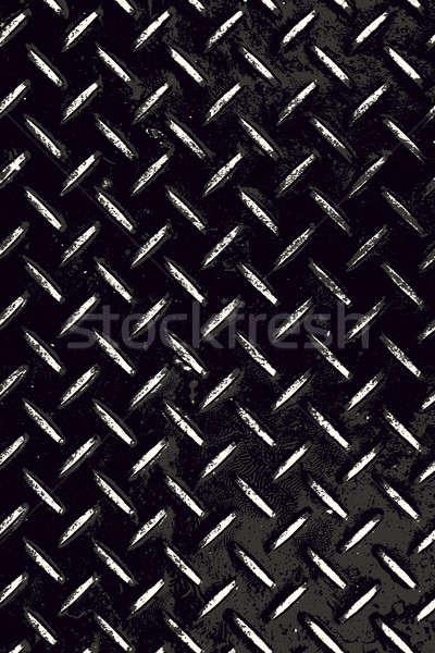 Worn Diamond Plate Grunge Stock photo © ArenaCreative