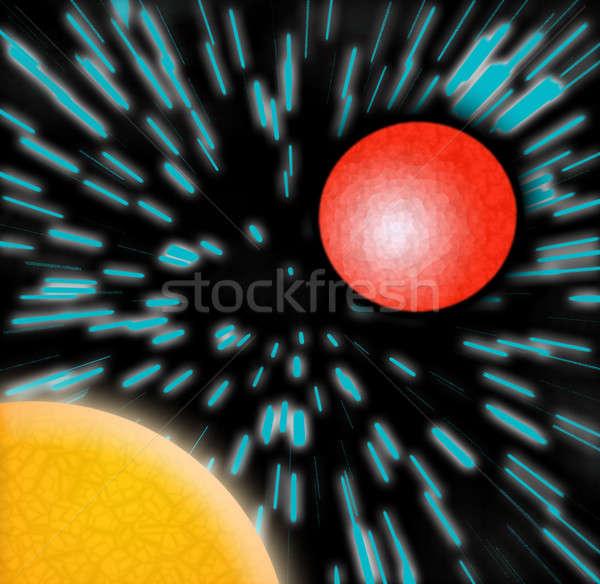 説明 光 オレンジ スペース ディスコ ストックフォト © ArenaCreative