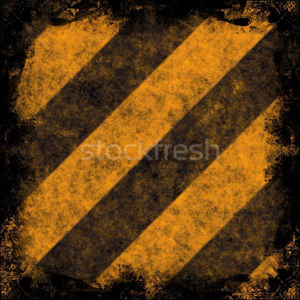 Grunge Hazard Stripes Stock photo © ArenaCreative