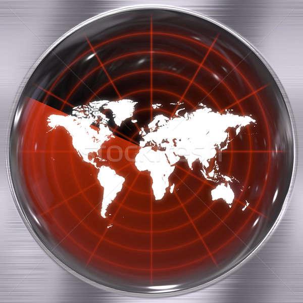 世界 レーダー 画面 実例 することができます 地図 ストックフォト © ArenaCreative