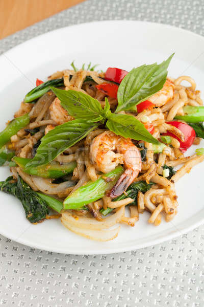 Tasty Thai Shrimp Stir Fry Stock photo © arenacreative