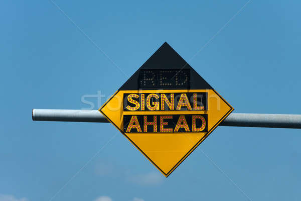 Red Signal Ahead Traffic Sign Stock photo © ArenaCreative