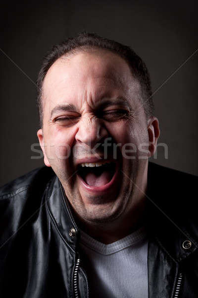 Hysterical Laughing Man Stock photo © ArenaCreative