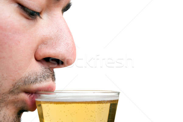 Man Drinking Beer Stock photo © ArenaCreative