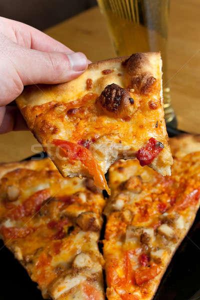 Buffalo Chicken Pizza Stock photo © ArenaCreative
