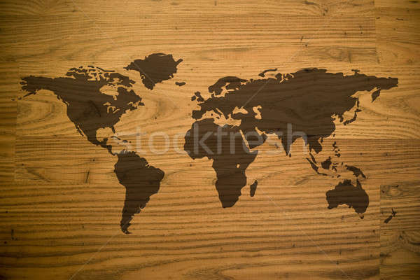 Wood Map Stock photo © ArenaCreative