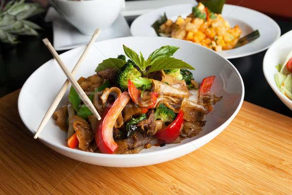 Drunken Noodle Pad Kee Mao Stock photo © arenacreative