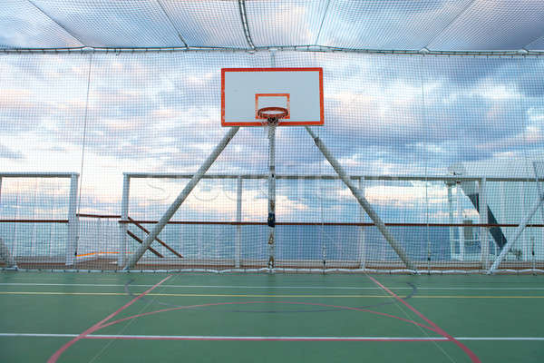 Stockfoto: Basketbalveld · zee · basketbal · zomer · oceaan