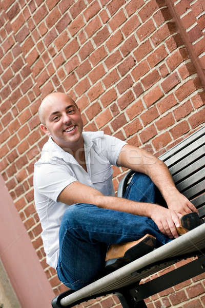 Guy on a Bench Stock photo © ArenaCreative
