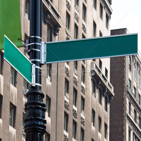 Stock photo: Blank Street Corner Signs