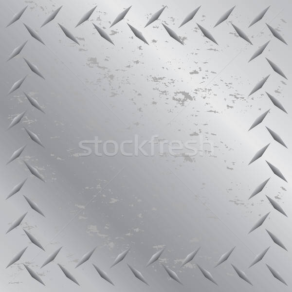 Diamond Plate Frame Vector Stock photo © ArenaCreative