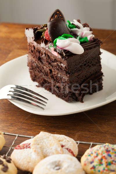 Chocolate Cake with Cookies Stock photo © arenacreative