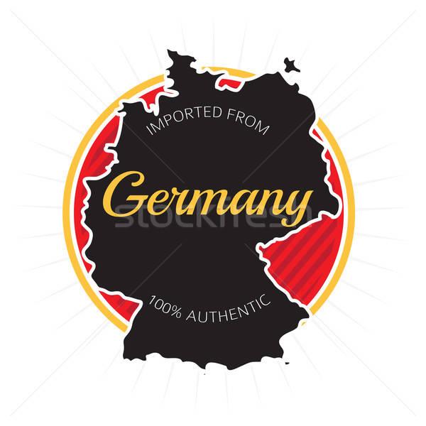 Niemcy etykiety projektu biały podpisania fabryki Zdjęcia stock © arenacreative