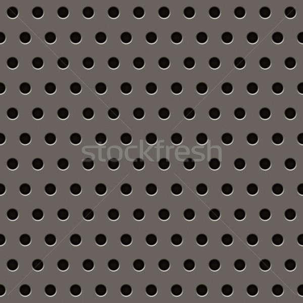 ストックフォト: グレー · 金属 · グリル · パターン · テクスチャ