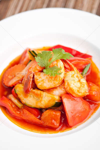 Sweet and Sour Prawns Dish Stock photo © ArenaCreative
