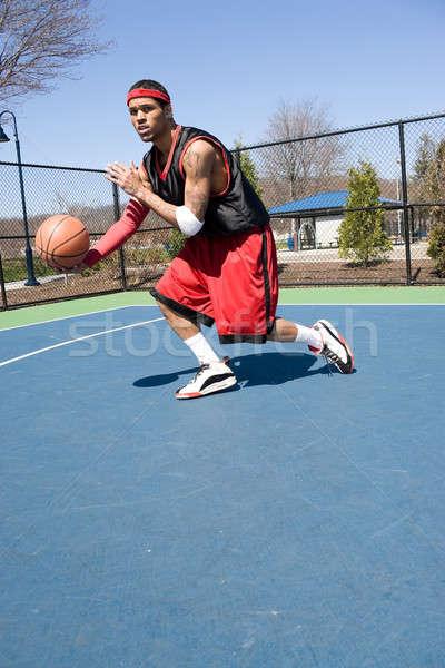 Jonge rijden bal behandeling vaardigheden Stockfoto © ArenaCreative