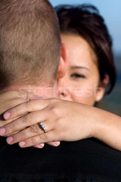 занято пару молодые счастливым мелкий области Сток-фото © ArenaCreative