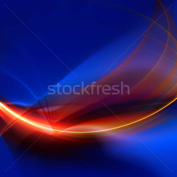 Fiery Glowing Fractal Abstract Stock photo © ArenaCreative