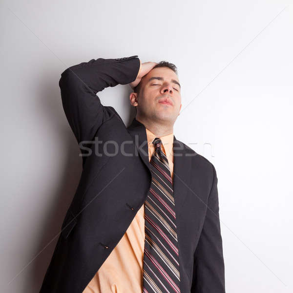 Stock photo: Stressed Out Business Man