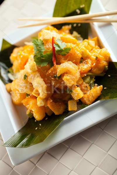 Thai Shrimp Plate Stock photo © arenacreative