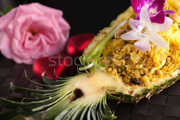 тайский ананаса жареный риса подготовленный Сток-фото © ArenaCreative