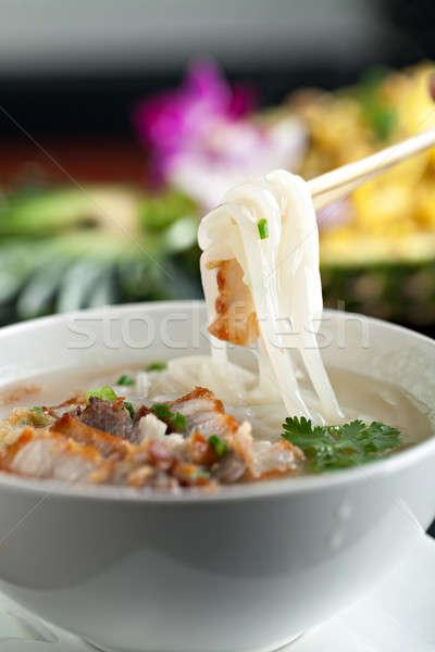Thai Soup with Pork Stock photo © arenacreative