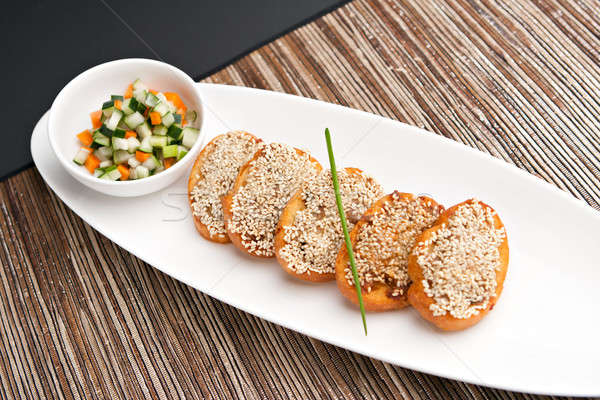 Shrimp Sesame Toasts Stock photo © ArenaCreative