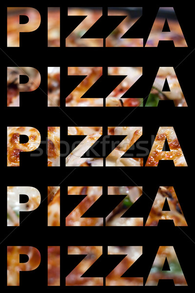 Pizza Word Montage Stock photo © ArenaCreative