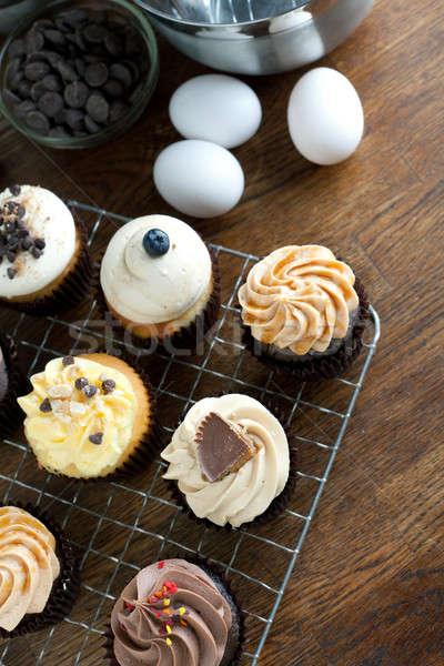 Gourmet Cupcakes and Ingredients Stock photo © ArenaCreative