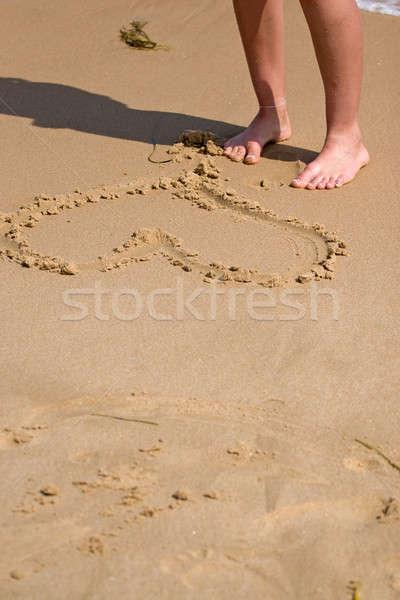 Heart In The Sand Stock photo © ArenaCreative