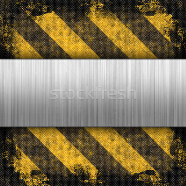 Hazard Stripes Brushed Metal Stock photo © ArenaCreative