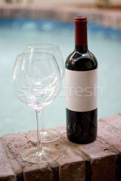 Red Wine and Glasses Stock photo © ArenaCreative