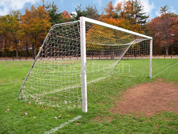 Futbol gol son boş alan park Stok fotoğraf © ArenaCreative