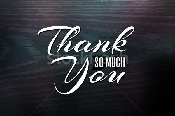Thank You Greeting Card Stock photo © ArenaCreative