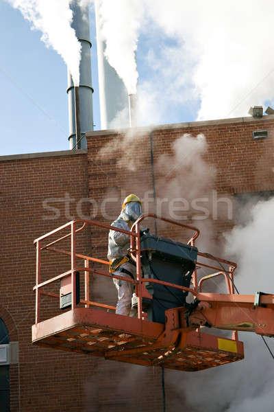коммерческих художника вверх Постоянный гидравлический лифт Сток-фото © ArenaCreative
