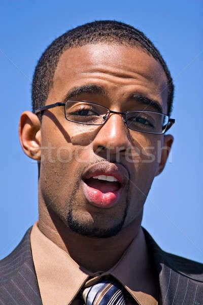 Stock photo: Surprised Business Man