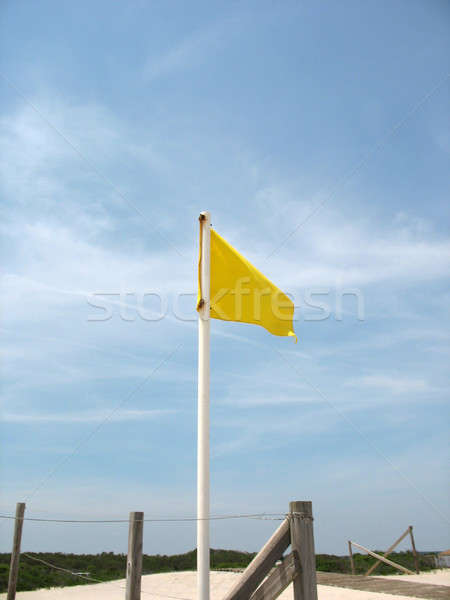 Yellow Caution Flag Stock photo © ArenaCreative