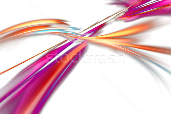 Flowing Abstract Fiery Layout Stock photo © ArenaCreative