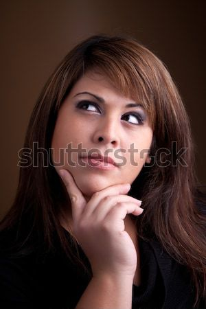 Beautiful Contemplative Woman Stock photo © ArenaCreative