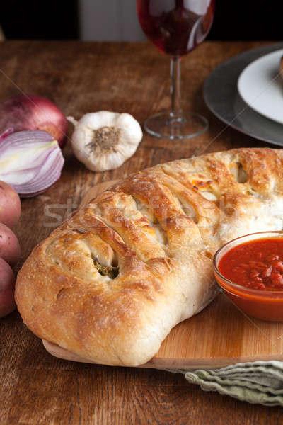 詰まった パン 自家製 ブロッコリー ニンニク ストックフォト © arenacreative